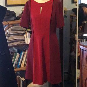 Tahari color blocked dress in flattering A-line!